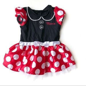 Disney Minnie Mouse Classic Polka Dot Dress 12M